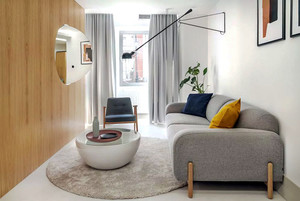 36平米简约时尚单身公寓设计装修效果图