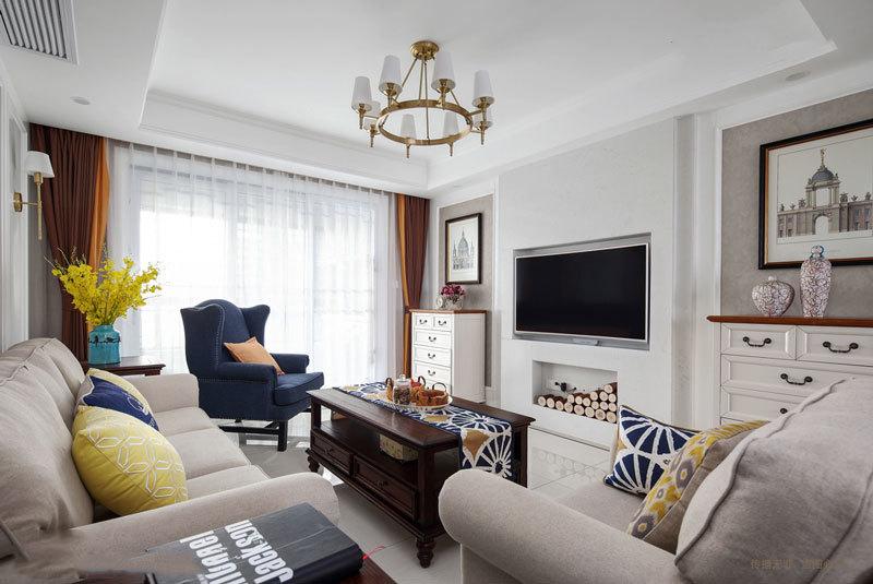精美典雅欧式风格电视背景墙装修效果图