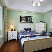 清新美式风格绿色儿童房装修效果图