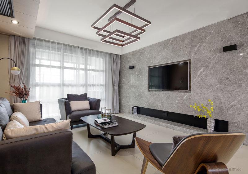现代风格创意客厅吊灯设计装修效果图