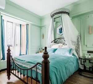 欧式风格薄荷绿清新儿童房设计装修图