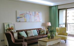 清新田园风格两室两厅装修样板房效果图