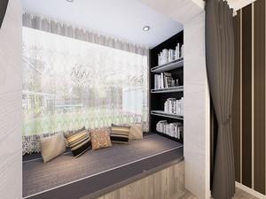 现代简约风格76平米一居室室内装修效果图