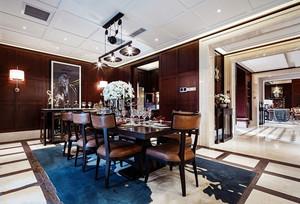 新古典主义风格别墅餐厅设计装修效果图