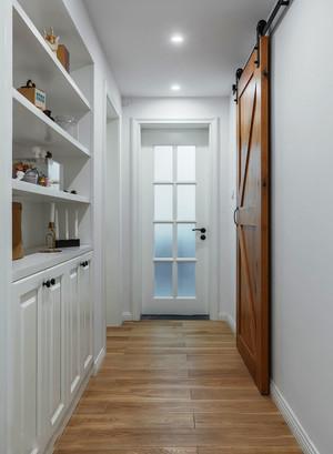 小美式风格清新白色玄关鞋柜装修效果图
