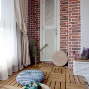 田园风格休闲舒适阳台设计装修图