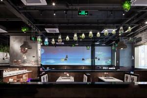 中式风格精致80平火锅店装修效果图