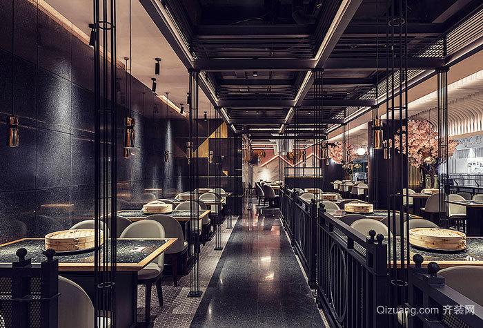 后现代风格工业风餐馆装修效果图