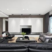 现代风格精致客厅电视柜设计装修图