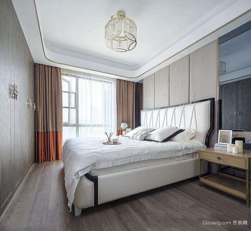 简欧风格简单卧室设计装修实景图