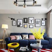 现代风格时尚客厅沙发设计装修实景图