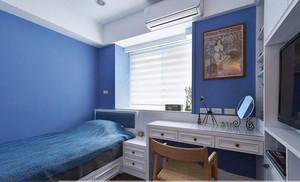 简约风格小户型蓝色儿童房设计装修效果图