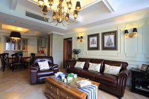 美式风格舒适三室两厅室内设计装修效果图