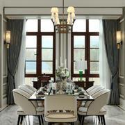 欧式风格典雅别墅餐厅设计装修实景图
