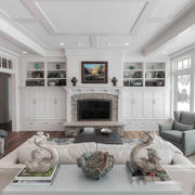 欧式风格精美客厅壁炉设计装修效果图