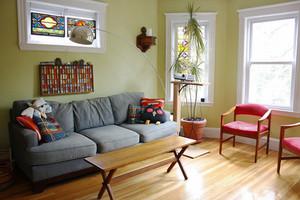 欧式田园风格绿色90平米室内装修效果图