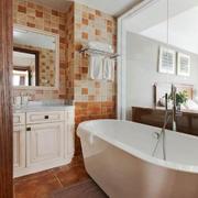 欧式风格精美卫生间瓷砖设计装修图