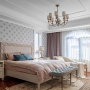 欧式风格甜美粉色温馨卧室装修效果图