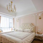 梦幻浅粉色欧式风格卧室装修效果图
