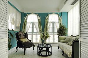 欧式风格时尚精美别墅阳台设计装修图