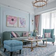 清新风格自然舒爽客厅设计装修效果图
