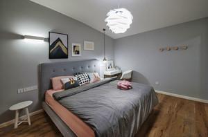 简约温馨灰色卧室设计装修效果图