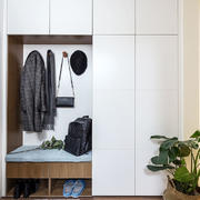 简约风格简单实用玄关鞋柜设计装修图