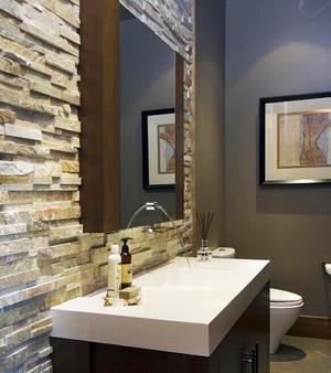 现代风格精致卫生间浴室柜装修效果图
