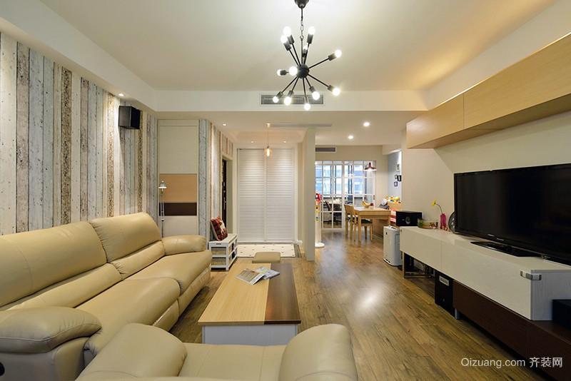 2018年最流行90平小三室装修效果图设计风格