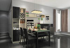 现代风格精美家居装修设计效果图,餐边柜大方的设计,不仅满足了日常收纳需求,同时也让整个餐厅变得更为丰富。