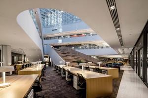 现代潮流办公室装修设计效果图