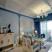 地中海风格客厅简约装修效果图