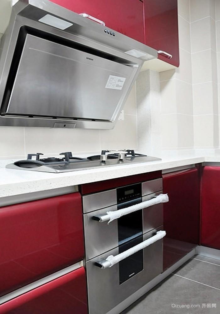 艳丽现代风格厨房图