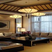 素雅新中式客厅装修效果图赏析