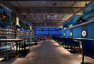 海鲜主题餐厅装修效果图