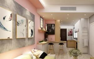 粉色系家居装修效果图