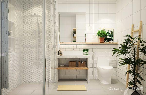 简约风格白色精美卫生间装修效果图大全