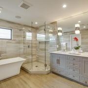 卫生间装修图小户型整体淋浴效果图