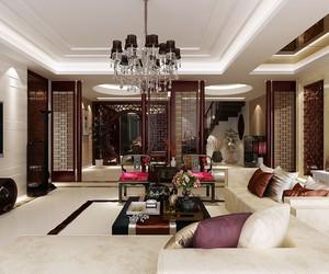 深色典雅中式客厅装修效果图赏析