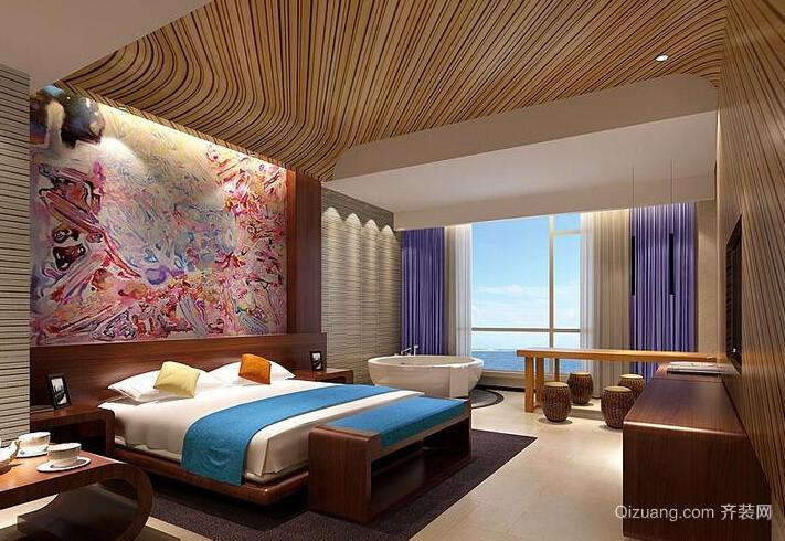 中式风格未来高档酒店客房装修
