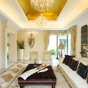 时尚精美大气美式客厅设计装修效果图