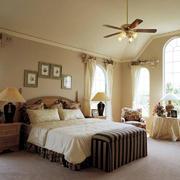 复古美式田园风卧室装修效果图