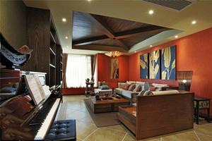三居室东南亚风格装修效果图