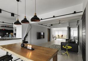 110坪米现代简约摩登范二居室装修案例