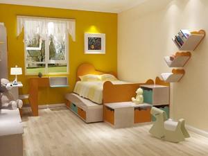 二居室法式田园风格儿童房装修效果图