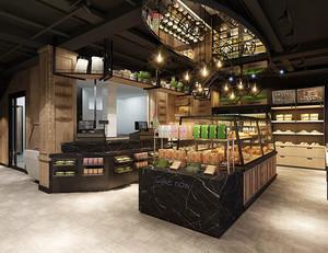 200平方混搭风格面包店装修效果图