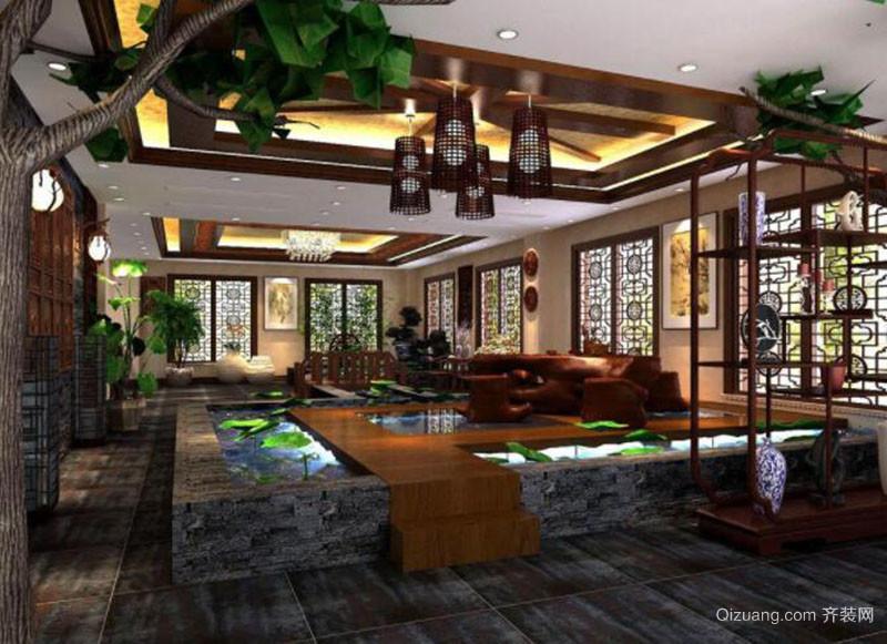 中式茶楼装修效果图赏析
