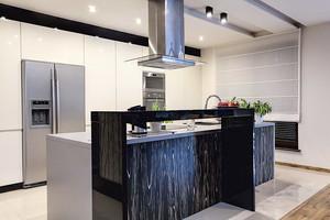 现代风格时尚别墅开放式厨房装修效果图大全