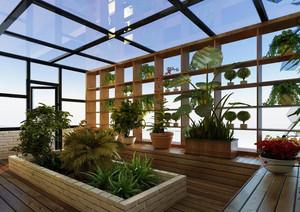 屋顶花园装修效果图赏析 美翻了