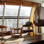 一居室中式阳台榻榻米装修效果图